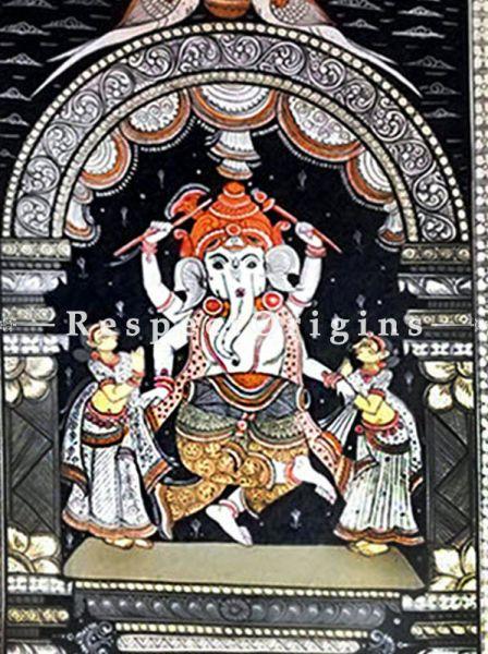 Buy Vighanharta Pattachitra Katha Vighanharta Pattachitra Painting Canvas Large Vertical Folk Art of Odisha 19x13; RespectOrigins.com