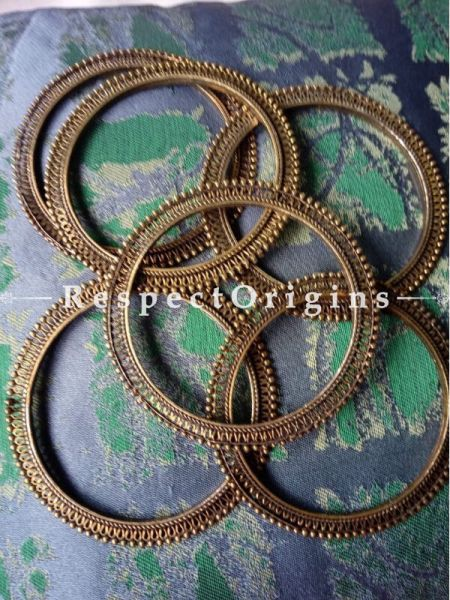 Buy Vintage Brass Bangles with beads on the edges for Women  at RespectOrigins.com
