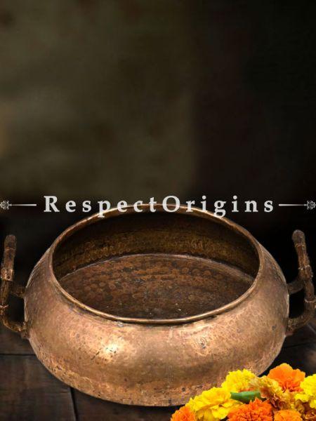 Buy Vintage Brass Oval Pot or Urli with Handles At RespectOrigins.com