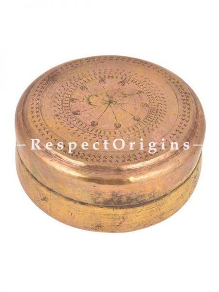 Buy Vintage Brass Round Roti Box, Collectibles, Keepsake Box At RespectOrigins.com
