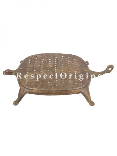 Buy Vintage Brass Tortoise Shape Grater Coconut Scraper At RespectOrigins.com