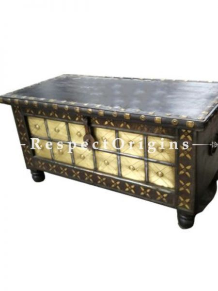 Buy Vintage Finish Hand Carved Brown Wooden Boxor Trunk At RespectOrigins.com
