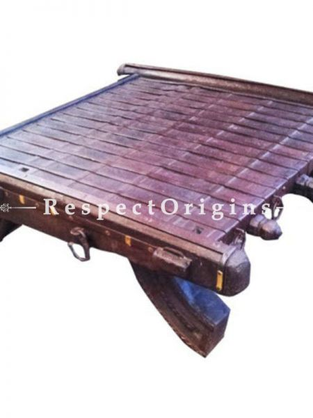 Buy Vintage Finish Small Cart Dagla Table; Wood At RespectOrigins.com