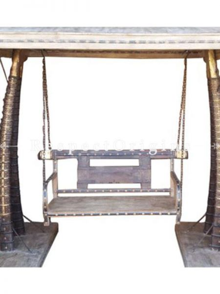 Buy Vintage Finish Wooden Cart Sandblasting Swing or Jhoola At RespectOrigins.com
