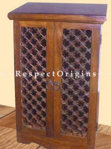 Buy Arthur Vintage Iron Lattice 2-Door Tall Dresser or End Table At RespectOrigins.com