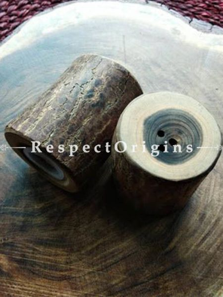 Buy Vintage looking Hand Made Wooden Salt and Pepper Cellars At RespectOrigins.com