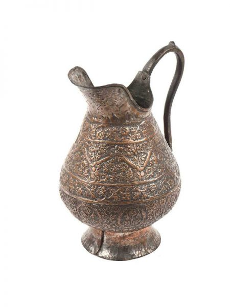 Buy Repousse Copper Water Pitcher Vintage Jug At RespectOrigins.com