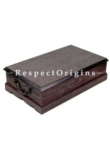 Large Vintage Tea Wooden Box, Stunning & Appealing Brass Artwork On The Top of The Box. 12.8 x 7.5 x 3.74 inches, RespectOrigins.com