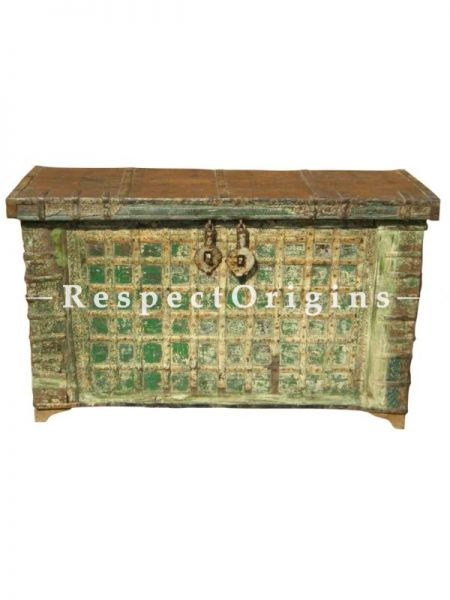 Buy Saloni Antique Teak Wood Dowry Chest; Vintage Coffee Table Trunk Console At RespectOrigins.com