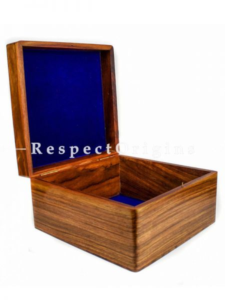 Large Rounded Corners Rosewood Case Box with Brass Artwork On The Top; RespectOrigins
