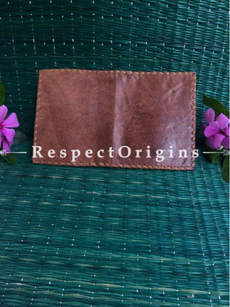 Rajasthani Leather Visiting Card Holder; Brown; Handcrafted Genuine Leather; RespectOrigins.com