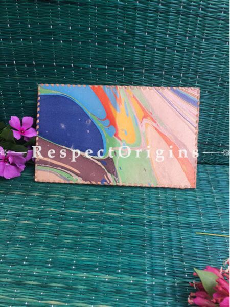 Rajasthani Leather Visiting Card Holder; Multi-colour; Handcrafted Genuine Leather; RespectOrigins.com