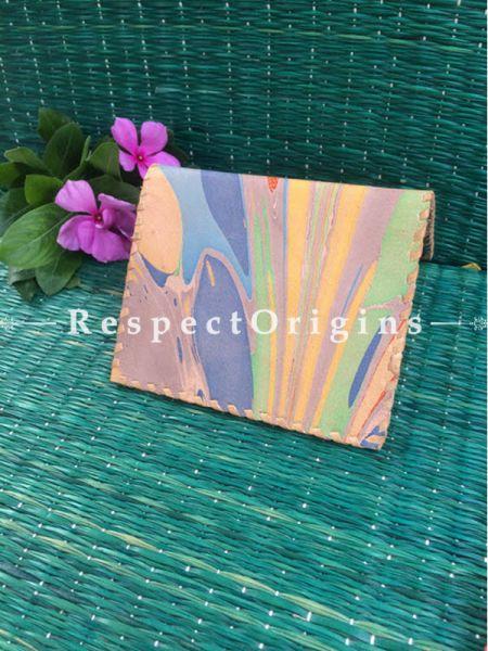 Rajasthani Leather Visiting Card Holder; Multi-color; Handcrafted Genuine Leather; RespectOrigins.com