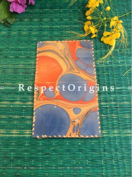 Multi-color Rajasthani Leather Visiting Card Holder; Handcrafted Genuine Leather; RespectOrigins.com