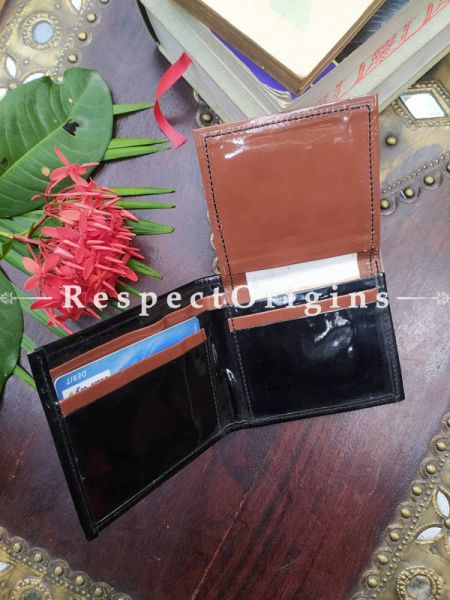 Buy Brown One-of-a-kind Handcrafted Suf Embroidered Wallets height 4 Inches x width 9 Inches at RespectOrigins.com
