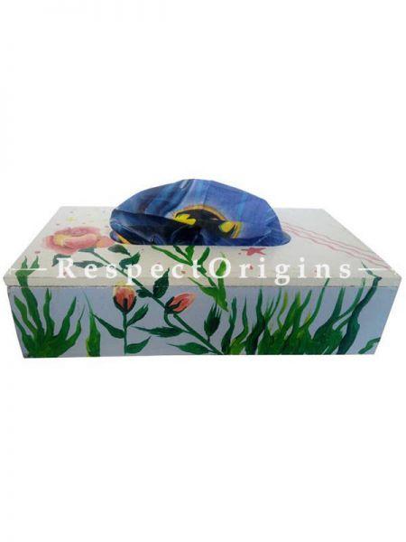 Buy White Rectangular Tissue Holder or Napkin box; Wood At RespectOrigins.com