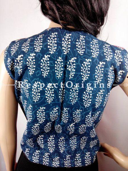 Buy Kutchi Border Cotton Waistcoat; Crimson and Indigo at RespectOrigins.com