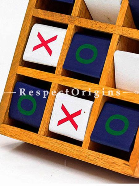 Buy Mango Wood Crafted Portable Tic Tac Toe Board Game; Floor Games At RespectOrigins.com