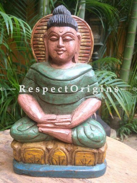 Buy Buddha Statue; Tamil Nadu Wood Craft at RespectOrigins.com