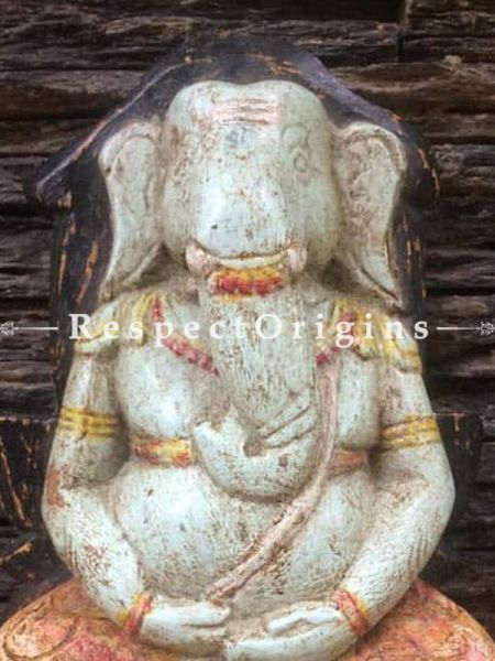 Buy Ganesh Idol; Tamil Nadu Wood Craft at RespectOrigins.com