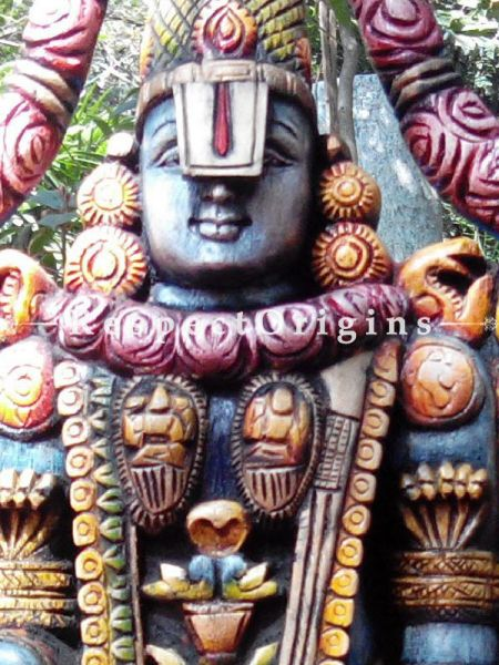 Buy Fabulous Balaji Statue in Wood; 6 Feet Online at RespectOrigins.com