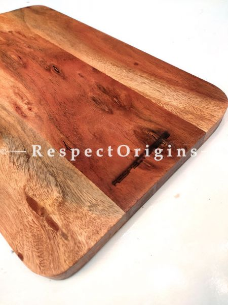 Wooden Charcuterie Board With Handle; 20x10 Inches; RespectOrigins.com