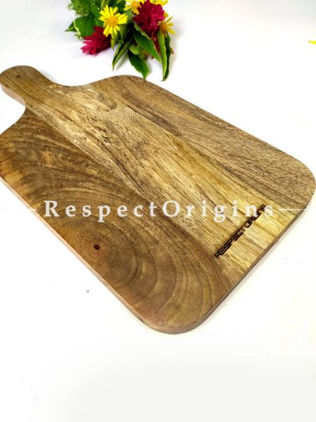 Wooden Charcuterie Board With Handle; 17x9 Inches; RespectOrigins.com