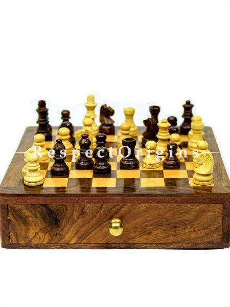 Buy Wooden Chess Board Game With Drawer