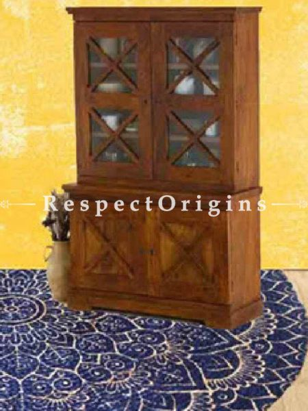 Buy Zubin Crafted 4 Door Hutch or Cabinet in Solid Wood At RespectOrigins.com