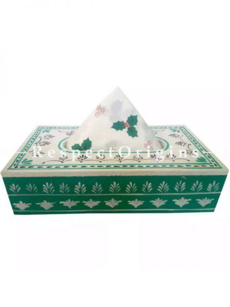 Buy Wooden Green Tissue Holder or Napkin Box