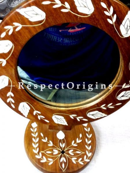 Handcrafted Wood Inlay of Hoshiarpur Mirror; H12xW8 Inches; RespectOrigins.com