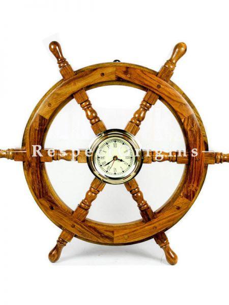 Buy Pirates Nautical Ships Steering Wheel Styled Porthole Clock; Lavish Wall Decor Gifts & Collectible;24 Inches Porthole Clock Ship Wheel At RespectOrigins.com