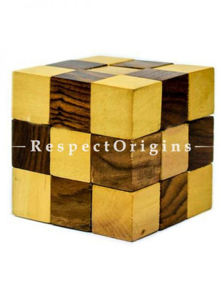 Buy Handmade Snake Wooden Cube Puzzle Game For Kids Children Unique Gifts Item; 3D Brain Teaser At RespectOrigins.com
