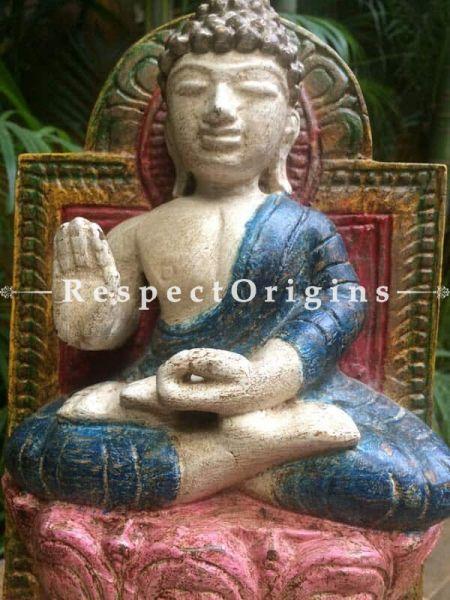 Buy Buddha Statue or Figurine; Tamil Nadu Wood Craft, 12x4x7 in At RespectOrigins.com