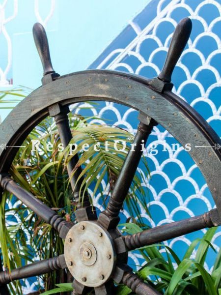 Buy Vintage Premium Antique Rustic Style Shabby Textured Ship Wheel At RespectOrigins.com