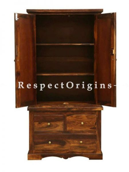 Buy Maya Vintage Tile Tall Cabinet Curio Cupboard or Bookcase; Solid Wood At RespectOrigins.com