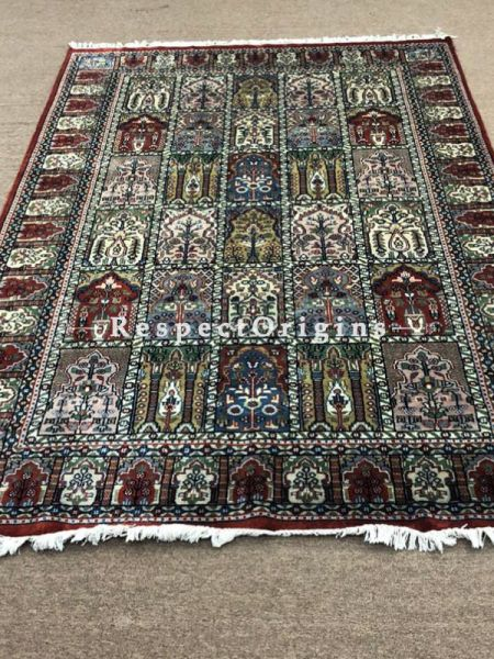 Hand-knotted Persian Style Multi-Color Woollen Carpet; Size 9x16 Ft; RespectOrigins.com