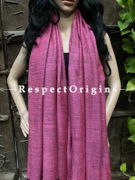 Fine Purple Woven Kashmiri Woolen Shawl for women; 80 X 43 Inches; RespectOrigins.com