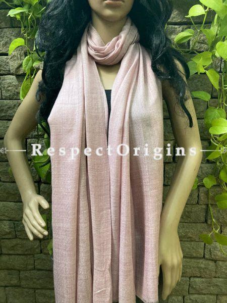 Pink Woven Kashmiri Woolen Stole for women;80 X 28 Inches; RespectOrigins.com
