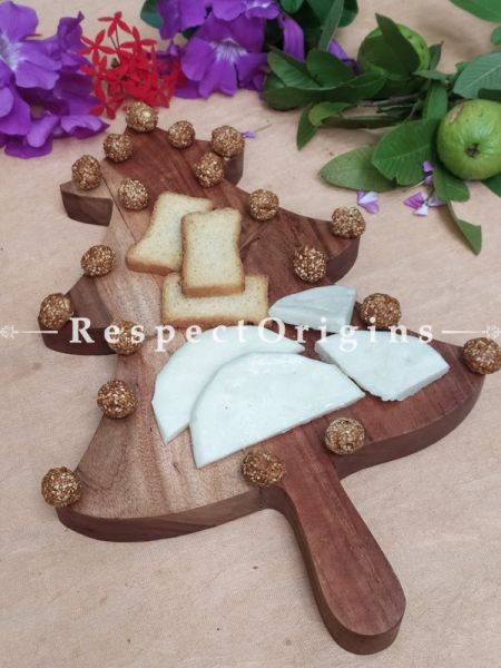 X-Mas Tree shaped Charcuterie Board; 17x11 Inches; RespectOrigins.com