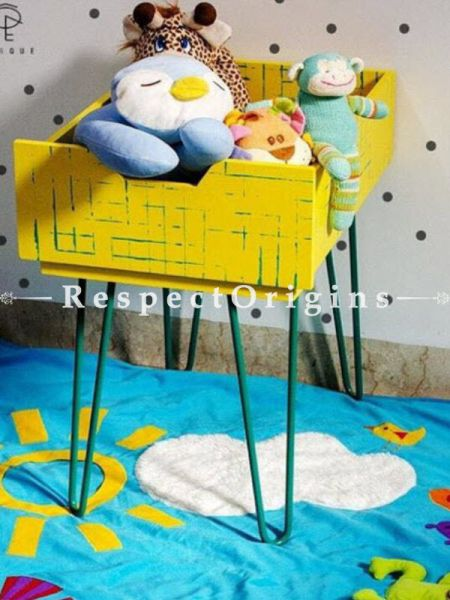 Buy Yellow Wood and Iron Side Table At RespectOrigins.com
