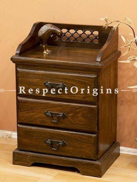 Buy Zenia Lattice Handcrafted Dresser Three Drawers At RespectOrigins.com
