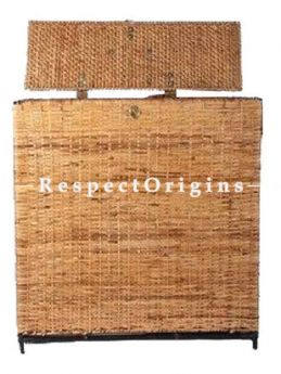 Buy Ecofriendly handwoven Rattan Cane Storage or Laundry Basket with a Lid cover 21x10x21 inches.|RespectOrigins