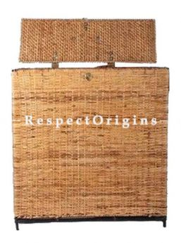 Buy Ecofriendly hand braided Rattan Cane Laundry Basket with Lid; RespectOrigins