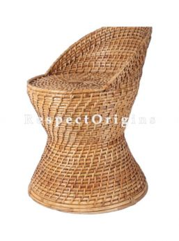 Buy Hand Braided Round Rattan Cane Seating Stool or Moodhain 14x20 inches; RespectOrigins.com