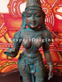Buy Handcrafted Statue of Chandikeswari; Bronze; 18 Inches At RespectOrigins.com