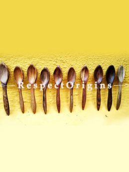 Handmade Spoons; Set of 10; Wooden, RespectOrigins.