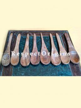 Handmade Spoons; Set of 8; Wooden, Chemical Free; RespectOrigins.