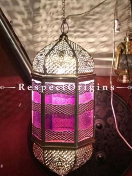 Buy Fuschia Pink Hanging Lamps in Copper and Glasswork. At RespectOriigns.com
