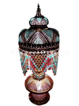 Buy Turkish Mosaic Glass Table Lamp At RespectOriigns.com